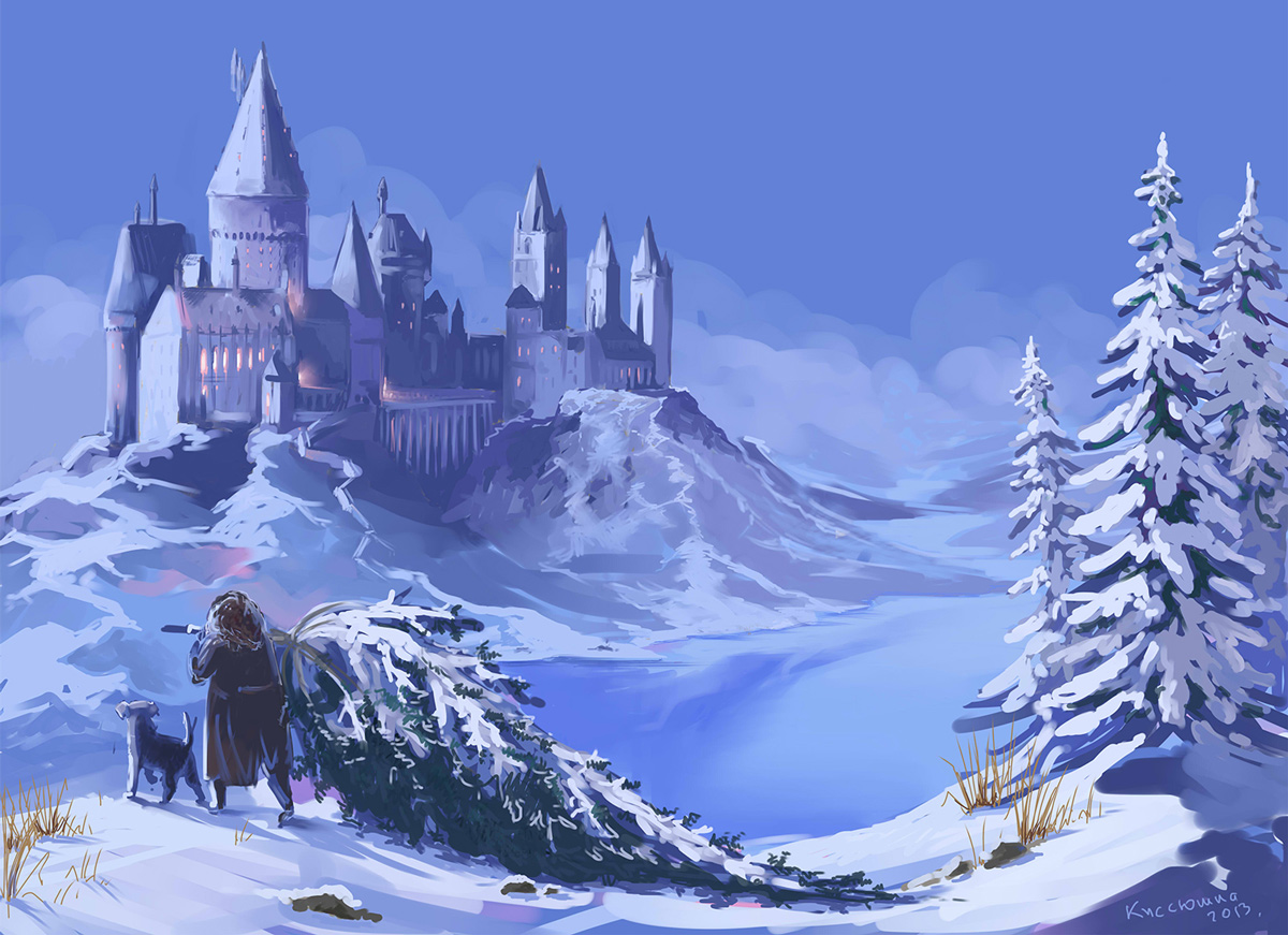 Hogwarts Castle Wallpaper Winter
