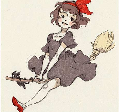 Movie review kiki 39 s delivery service 1989 by techgnotic for Kiki tattoo artist