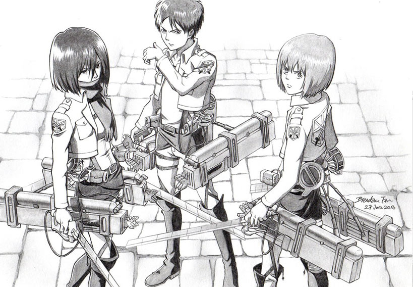Anime Attack On Titan Draw Anime Wallpapers