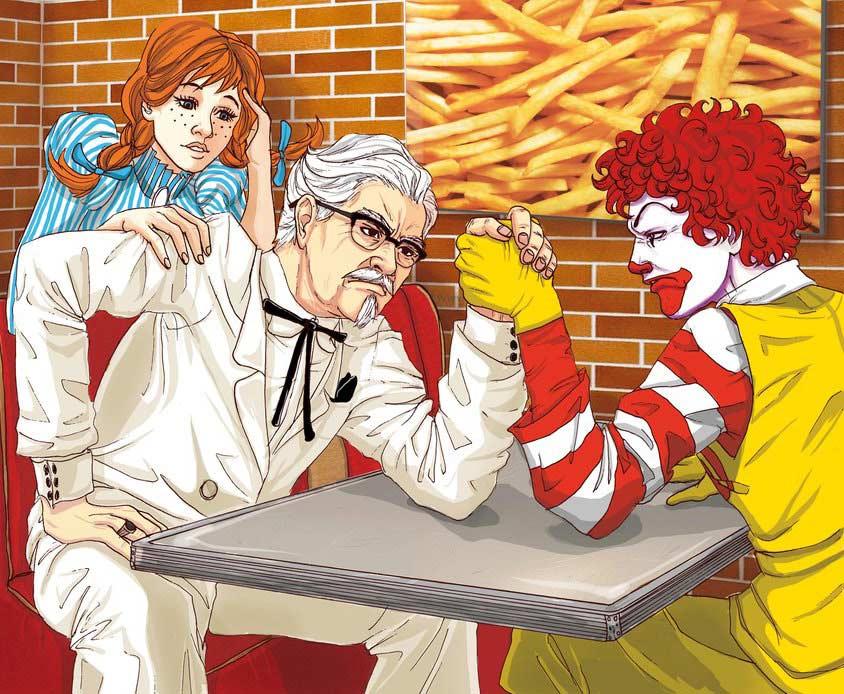The Fast Food Mafia Poster