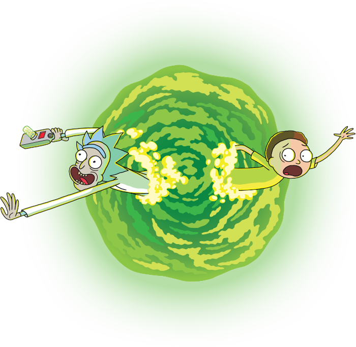 how to draw rick and morty portal