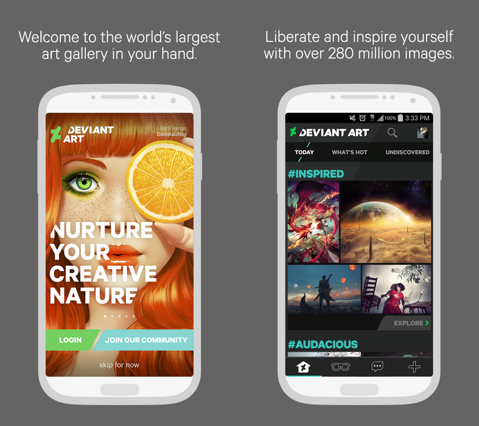 DeviantArt Mobile App Now Available by danlev on DeviantArt