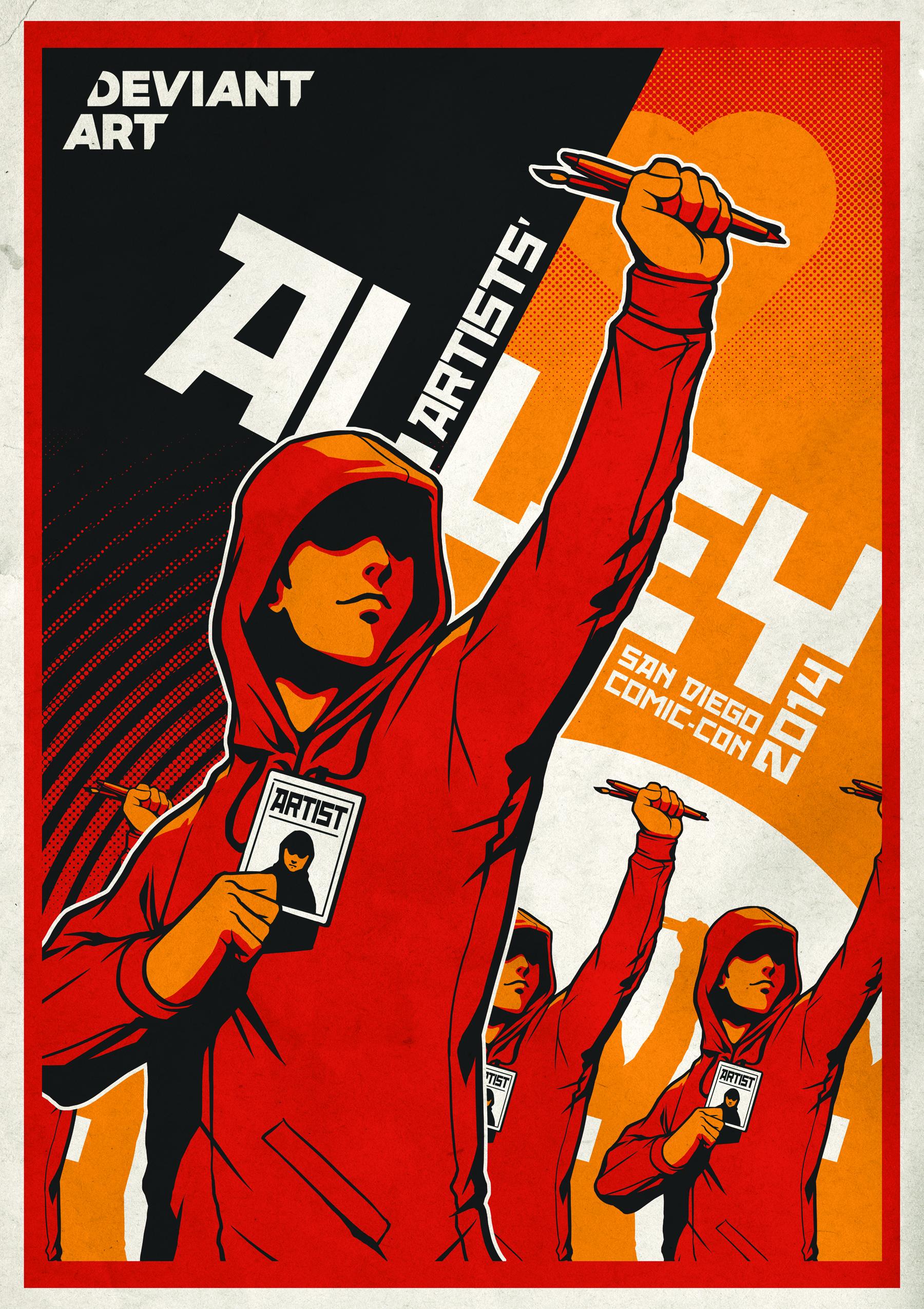 Poster design deviantart - Get The Poster